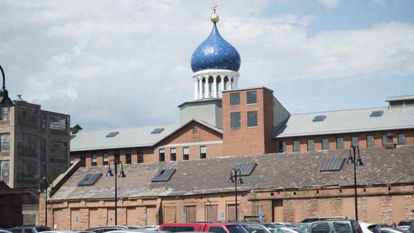 The East Armory was the main building for manufacturing Colt firearms. It's Russian-inspired onion dome can be seen from downtown Hartford and I-91. Colt Gateway Management now owns the building, which houses apartments and office space.