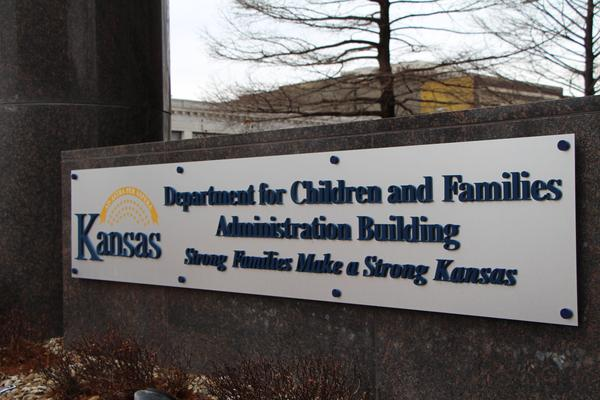 The Kansas Department for Children and Families building in Topeka. DCF requested additional money in its budget to find and bring back missing children in its care.