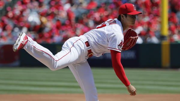 Los Angeles Angels pitcher Shohei Ohtani has become the first major leaguer with two wins and three home runs in his team's first 10 games since 1919, MLB says.