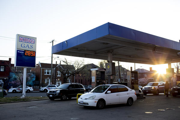 Martin Luther King Jr. Avenue in Washington, D.C., where Maleak Coffin was shot while pumping gas on Dec. 23, 2017. The nation's capital saw more than 100 people die from gunshot wounds between Jan. 1, 2017 and April 9, 2018.