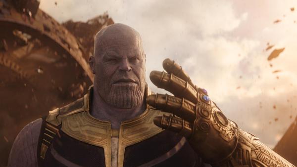 <em>Ya Got The Stones For This?</em>: Thanos (Josh Brolin) blithely ignores Coco Chanel's advice on accessorizing — so you <em>know</em> he's evil — in Marvel's <em>Avengers: Infinity War.</em>