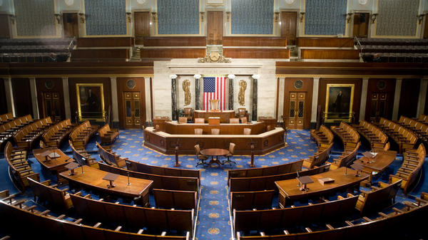 The U.S. House of Representatives chamber, where a new omnibus bill around music regulations was introduced on April 10, 2018.