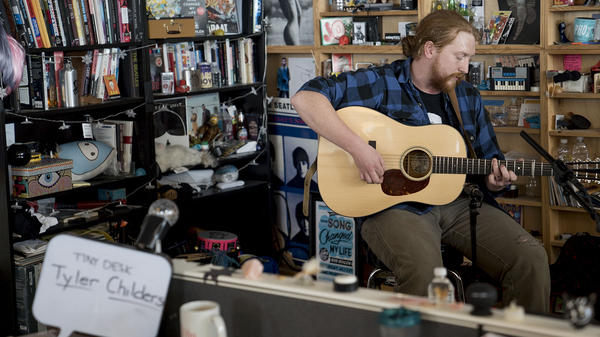 Tyler Childers performs a Tiny Desk Concert on March 8, 2018 (Eslah Attar/NPR).