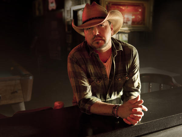 Jason Aldean was on stage at the Route 91 Harvest Festival in Las Vegas when a gunman opened fire on the audience, killing 58. Aldean will release his eighth album, <em>Rearview Town</em>, April 13.