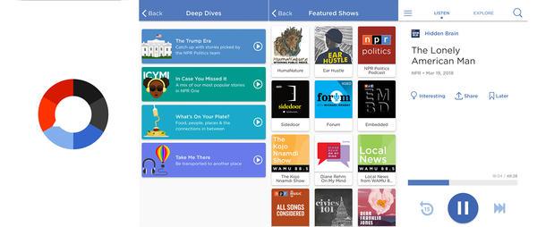 Inside the NPR One app.