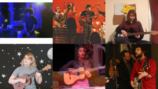 Clockwise from top left: Anthony Lucius; Cecilia + the Broken Hearts; Kelly Hoppenjans; Stone & Snow; Anju; Kerrin Connolly