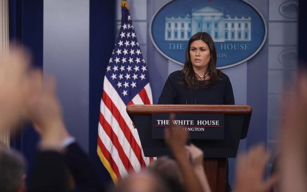 White House press secretary Sarah Sanders blasted fired FBI Director James Comey's new book at the White House briefing on Friday.