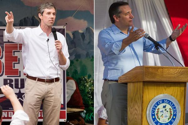 U.S. Rep. Beto O'Rourke, D-El Paso, has outraised U.S. Sen. Ted Cruz in his bid to unseat him in the Senate.