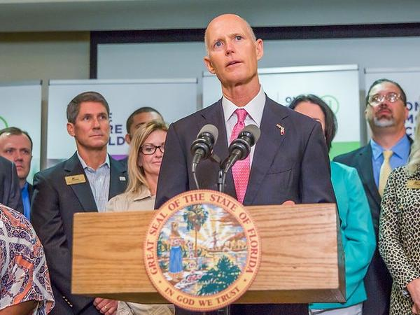 Gov. Rick Scott speaking at the Florida Baptist Children's Home in Lakeland in March, 2018.