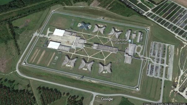 The Lee County Correctional Institution has been the scene of several violent incidents in recent years. Seven inmates died at the prison on Sunday night.