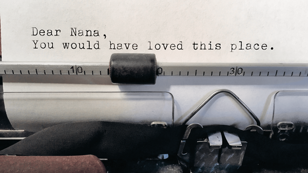 Patrons leave all kinds of messages on the vintage typewriter at Literati bookstore in Ann Arbor, Mich.