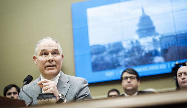 Environmental Protection Agency Administrator Scott Pruitt testifies before the House Energy and Commerce Committee on Capitol Hill on Dec. 7, 2017.