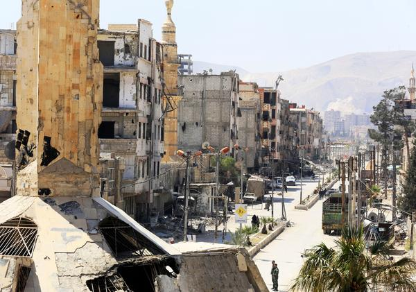 Syrian state media said Tuesday that inspectors with the Organisation for the Prohibition of Chemical Weapons had entered the town of Douma. A day later, the OPCW said that hadn't happened.