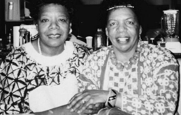 Auntie Maya Angelou and Queen Mother Frances Pierce.