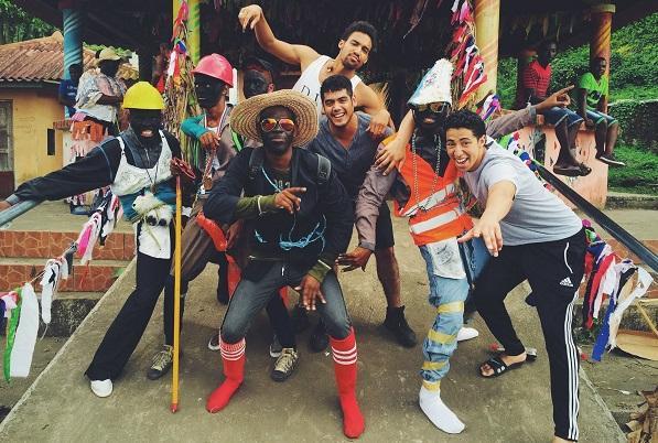 Blackspace project in Portobrlo, Panama circa 2015 at the festival de los Diablos y Congos, exploring black identity in a Pan-African context with collaborators: photographer Saul Flores, Poet Herrison Chicas, and several festival performers.