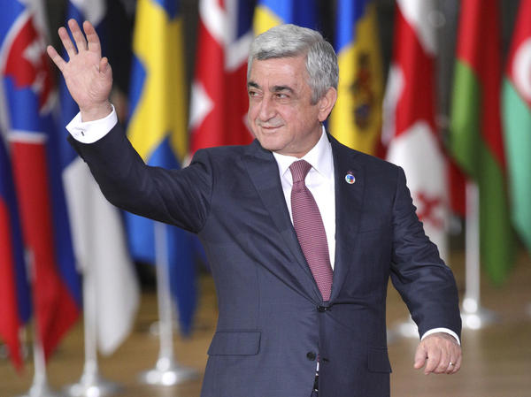 Serzh Sargsyan, seen last fall at a summit in Brussels before the end of his second term as president.