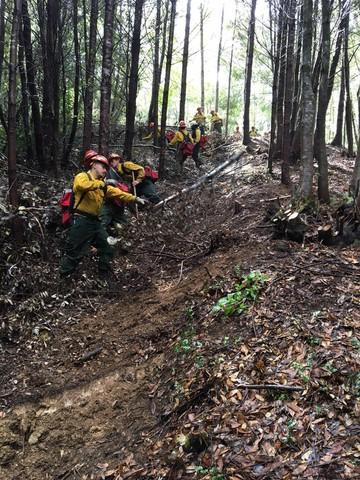 <p>Crews work the Chetco Bar Fire on Sept. 12, 2017.</p>