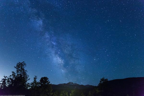 The Milky Way over Longs Peak in Colorado