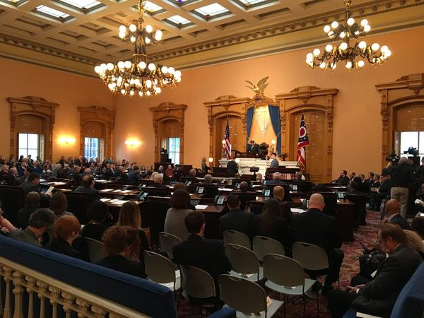 The Ohio Senate meets for its first session of the 132nd General Assembly on January 3, 2017.