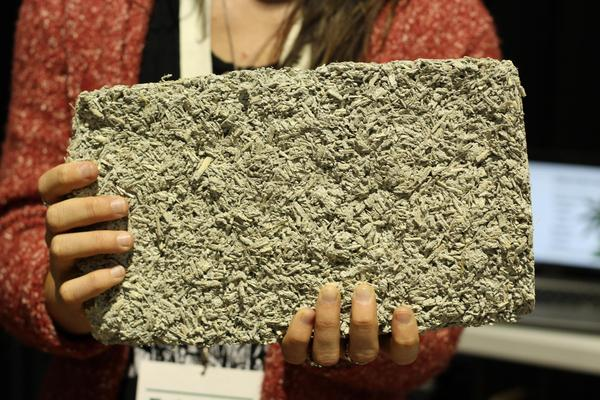 """Left Hand Hemp is one of several companies producing building materials like """"hempcrete"""" (pictured)."""