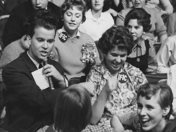 Dick Clark on <em>American Bandstand</em>