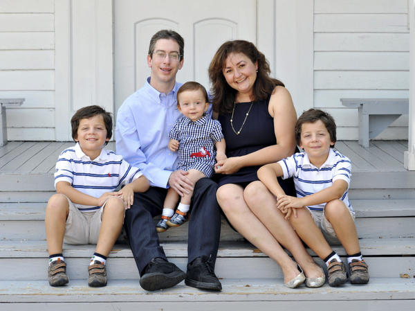The long-term effects of parenting aren't proven, says author Bryan Caplan, seen here with his family.