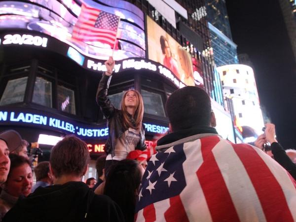 Thousands poured into New York's Times Square when they heard the news of bin Laden's death.