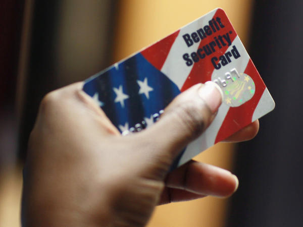About 46 million people get government help in the form of food stamps when buying food. That's roughly 15  percent of the population.