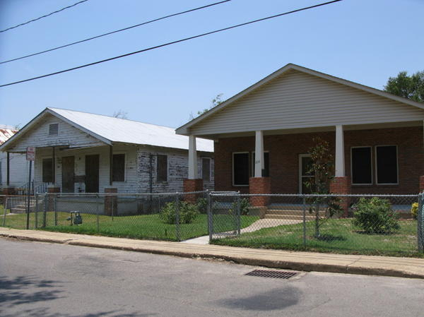 On Nixon  Street in Biloxi, Miss., some houses have been rebuilt, but still many remain untouched  since Hurricane Katrina hit in 2005.