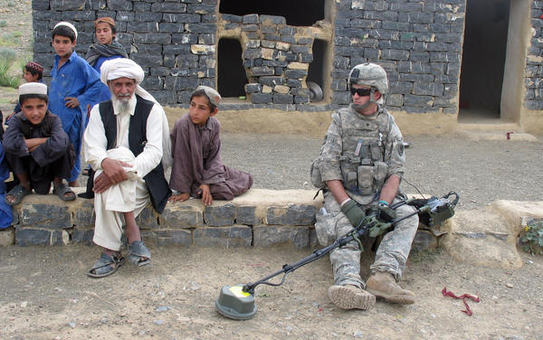 """""""There are so many questions and so little answers while you're [in Afghanistan],"""" says Dominic """"Dom"""" Fredianelli."""