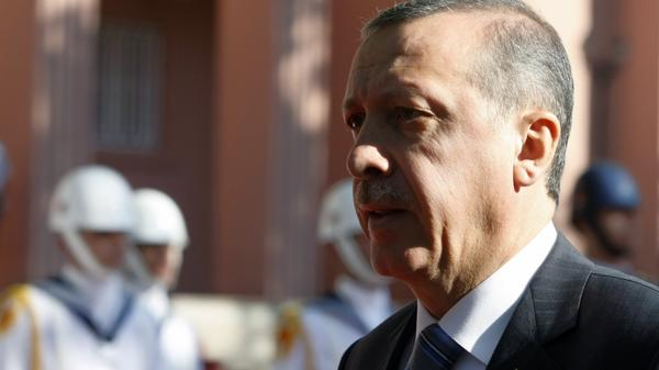 "Turkish  Prime Minister Recep Tayyep Erdogan, shown here in Ankara on Sept. 8, began a tour of the ""Arab Spring"" countries on Monday. He's visiting Egypt, Libya and Tunisia, where authoritarian rulers have been ousted this year."