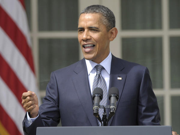 President Barack Obama describes his plan to reduce the deficit in remarks delivered Monday in the White House Rose Garden.