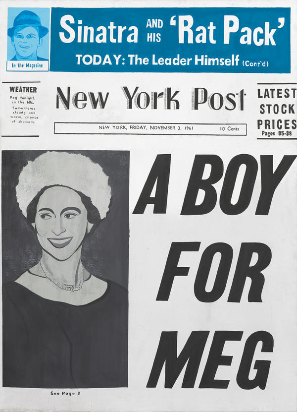 "<strong>Birth Announcement:</strong> ""Meg"" — better known as the headline-making Princess Margaret of England — made the cover of the <em>New York Post</em> in 1961, when her son David Linley was born."