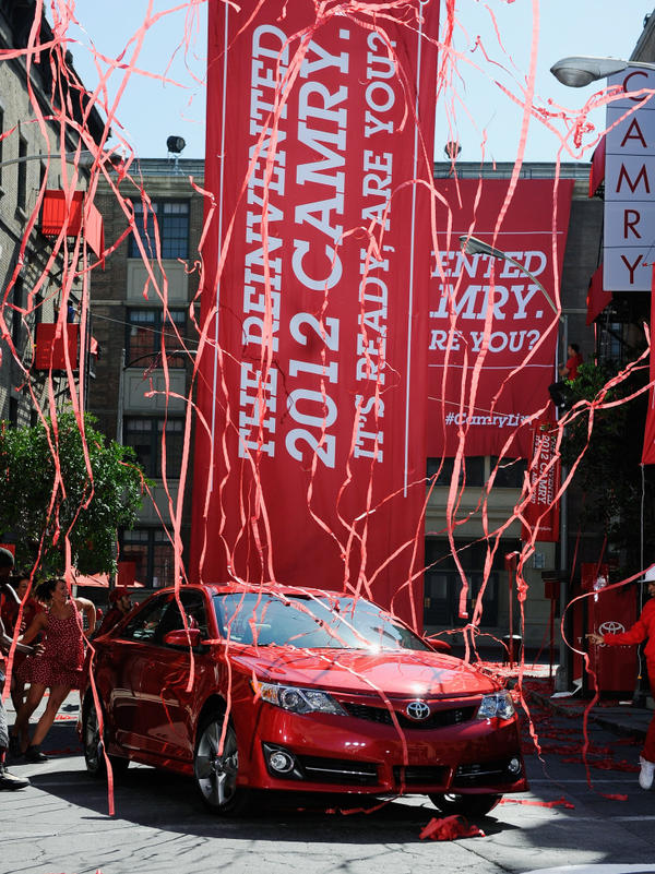 <p>The new redesigned 2012 Toyota Camry is unveiled during a news event on the Paramount Studios lot in Hollywood, Calif.</p>