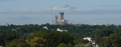 <p>Repairs are under way at the National Cathedral, which sustained millions of dollars' worth of damage in an August earthquake.</p>