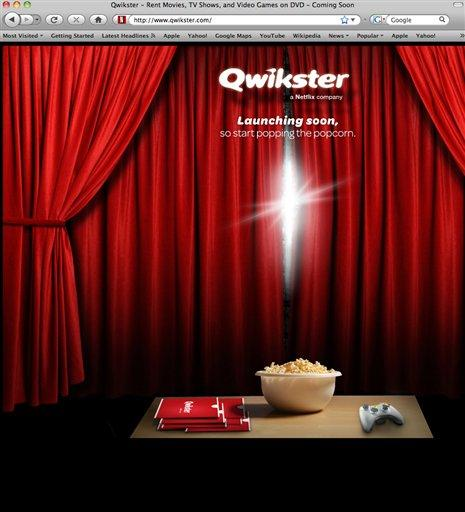 <p> A screenshot shows Qwikster.com, the ill-fated DVD mailing service that Netflix discontinued Monday.</p>
