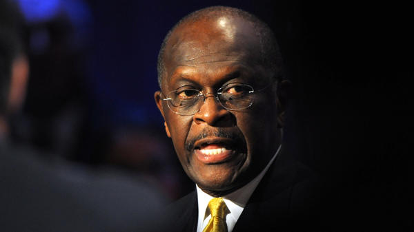 <p>Republican presidential candidate Herman Cain participates in a presidential debate at Dartmouth College in Hanover, N.H., on Tuesday.</p>