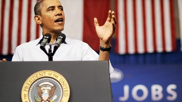 <p> President Obama speaks at a YMCA in Jamestown, N.C., on Tuesday, during a three-day bus tour to promote his American Jobs Act. During the trip, he has drawn sharp lines between his jobs plan and the competing Republican plan. </p>
