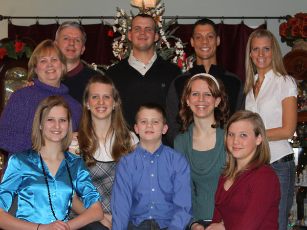 <p>The Boelk family is seen at Christmas in 2009. This is the last family photo that was taken before their son James was killed in Afghanistan. </p>
