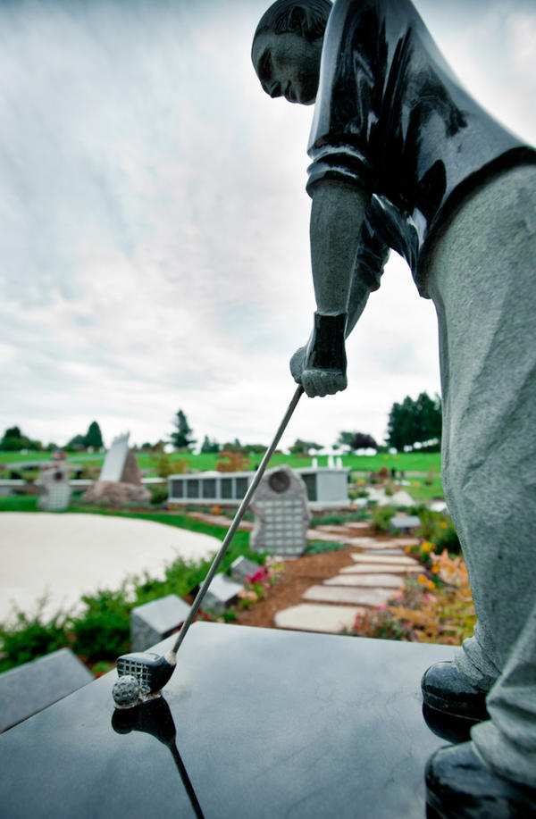 <p>Grieving families may chip shots out of the rough, or the sand trap, as well as putter on the green. </p>