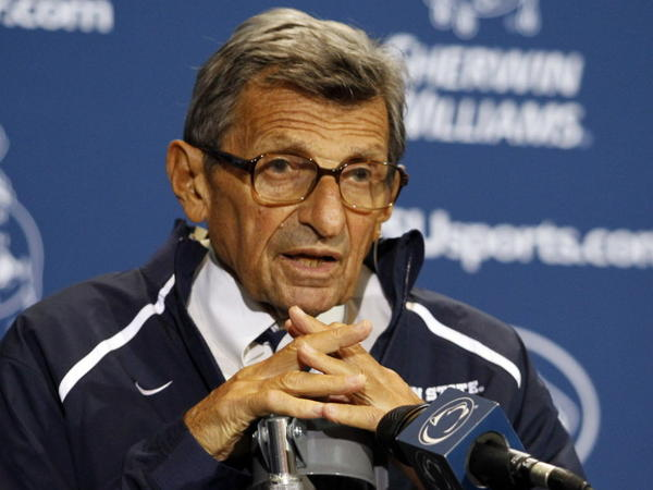 Former Penn State head football coach Joe Paterno in September.