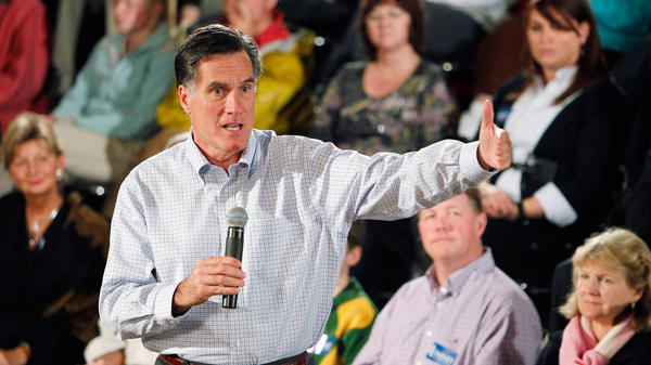 Republican presidential candidate Mitt Romney speaks during a town hall event in Peterborough, N.H., on Saturday.
