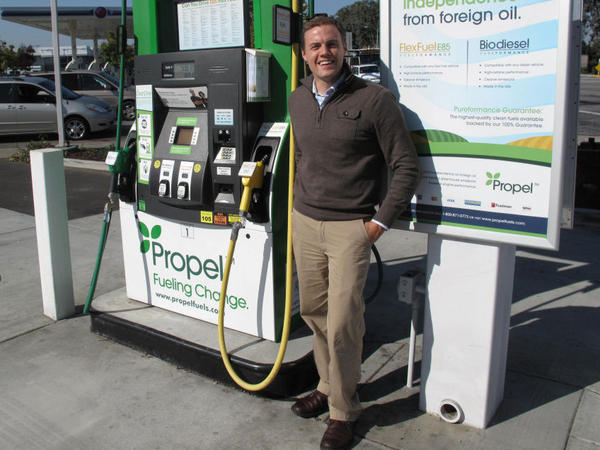Matt Horton is CEO of Propel Fuels, a company that installs equipment and pumps to handle biofuels. Horton says California is a great market because consumers are interested in renewable fuels.