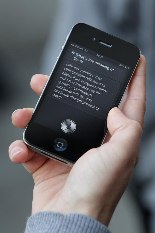 Apple's new iPhone 4S includes a personal assistant, Siri, that responds to user queries.