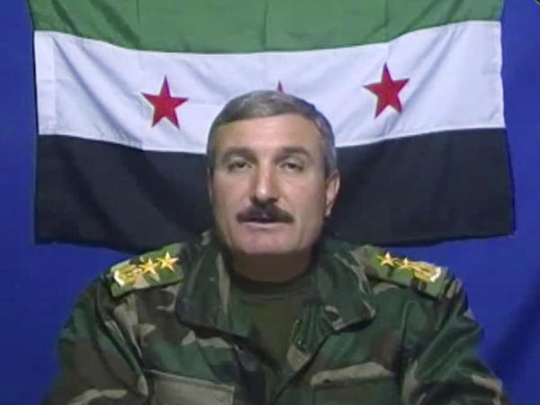 Riad al-Asaad says he's the leader of the Free Syrian Army, a group of Syrian defectors who recently posted this video on the group's Facebook page.