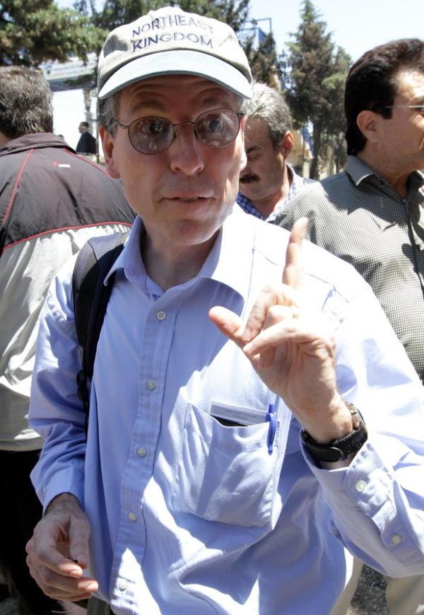 U.S. Ambassador to Syria Robert Ford on June 20, 2011, in Jisr al-Shughur, Syria.