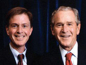 Timothy Goeglein (left) spent nearly eight years in the White House as President George W. Bush's key point of contact to American conservatives and the faith-based world and was often profiled in the national news media.