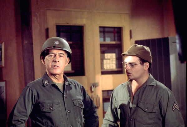 Col. Sherman Potter (Harry Morgan) was a father figure to Cpl. Radar O'Reilly (Gary Burghoff).