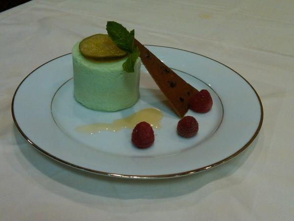 Frozen Lime Souffle is Justice Ginsburg's favorite dessert.
