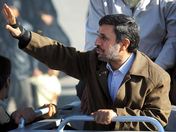 Iranian President Mahmoud Ahmadinejad regularly defends his country's nuclear program despite international criticism. The president is shown here on a visit to Varamin, south of Tehran, on Wednesday.